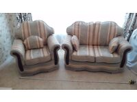 Settee and chair , good quality and near perfect condition