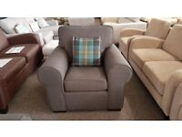 Ex Display Grey Fabric Armchair **CAN DELIVER**