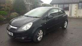 Vauxhall Corsa Sxi 3dr in Black - 57 Plate