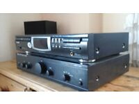 Hi fi separates, philips cd player, Cambrige amp and Celestion speakers.