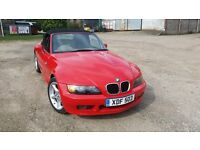 BMW Z3 1.9 140HP in Hell Red with Black softop and personal plate