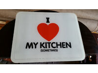 Glass Chopping Board (Cutting Board Place Mat Tray / Table Worktop Saver) Present Gift Birthday