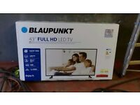 Brand new Blaupunkt 43-1370 Full HD 43 Inch LED TV with Freeview HD