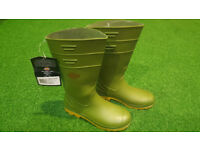 Brand New Mens Dickies Pennine Green Wellington Boots - Size 7
