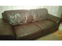 Leather sofa good quality