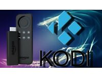 Amazon fire TV stick with KODI and all new apps and updates