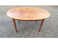 McINTOSH Extendable Teak Dining Table Brown Large Retro Vintage 07989088223 possible delivery