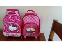 2 hello kitty wheelie cases