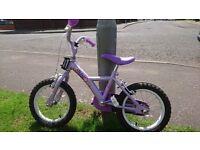 """Apollo petal kids bike 14"""" wheels"""