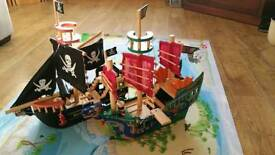 Le Toy Van Wooden Ships & Mat