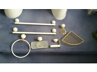 De luxe bathroom fittings, used, in good condition, gold/white finish
