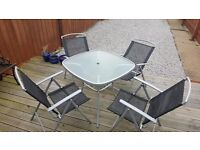 4 seat outdoor table and chair set