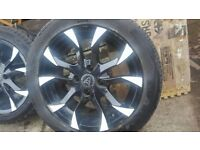 4 ×wolfrace asassin alloys with wheels