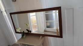 Top quality large mirror with a wide bevel