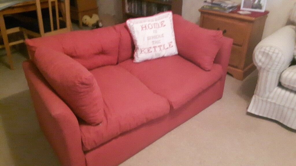 Sofa Bed for free -Red. Used,very useful as a temporary bed | in ...