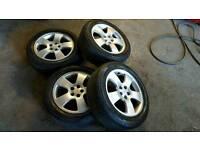 """Alloys 16"""" 5x100 tyres 205/55/16"""
