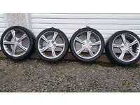 Wolfrace alloy wheels 17'' + 4 x tyres 215 40 17 Multi-stud,Renault,Vauxhall,Honda,Toyota,and more..