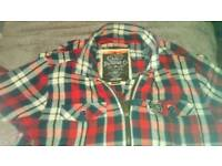 Superdry red check jacket