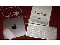 Mac mini with keyboard and mouse