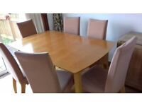 Modern Wood 8x Seater Dining Table extendable