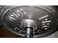 Metal weight plates 4x 10kg