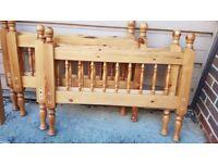 2x pine single beds / bunk beds