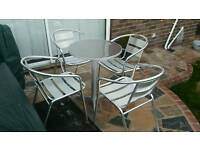 Bistro table & 4 chairs