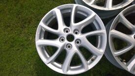 4x Genuine Mazda 17 inch alloy wheels