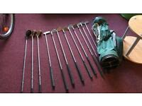 Golf clubs and bag full set except #8