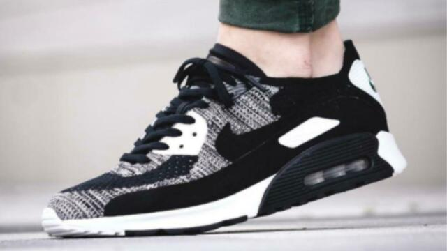 "bfdeb59ee2d1 Nike Air Max 90 ""oreo"" Ultra 2.0 Flyknit. Size UK 6. Brand New!"