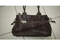 Large brown leather Radley shoulder bag