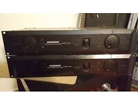 TWO SAMSON SERVO 260 Studio Power Amplifiers