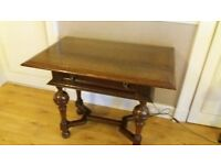oak table suitable for hall or as a sideboard