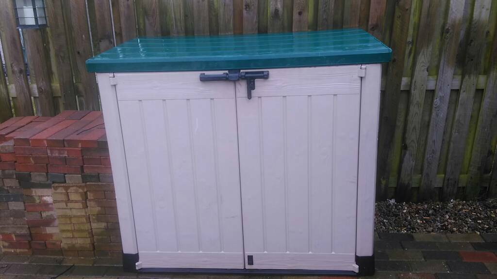 wheelie bin store garden shed store lockable