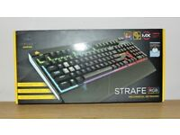 Brand New Corsair Strafe RGB Mechanical Keyboard with Cherry MX Brown Switches