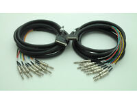 2x 3m DB25 To TRS Jack Looms Suitable For Mackie SDR Recorder Or Similar