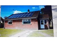 2 Bed Bungalow for rent in rural Cantley, parking and garden, double glazing, solar power