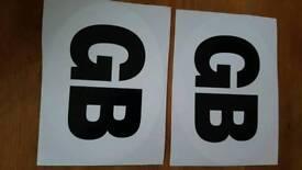 GB stickers x 2