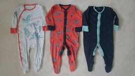 Set of 3 Next Sleepsuits 3-6 months