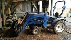 Landlegend 25HP tractor + loader, harrow and box