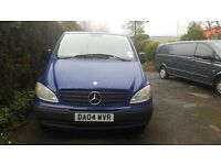 MERCEDES VITO - EXTRA LONG WHEEL BASE VAN - BARGAIN PRICE - 2004 - OPENING REAR AND SIDE DOORS