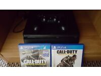 sony playstation 4 slim for sale 500gb great con and 2 games no box