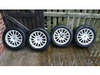 "FIAT 16"" Alloys 4x98 ET31 with good tyres"