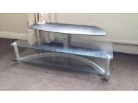 GLASS TV STAND FOR LARGE TV - ORIGINALLY FOR SONY SU-42SX3