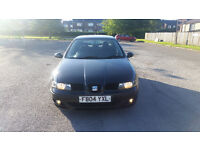 L@@K.. SEAT LEON 1.9 TDI 04 REG BLACK MOTED GENUINE MILES WITH SERVICE HISTORY CHEAP CAR NO OFFERS