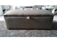 Reduced £60 BRAND NEW OTTOMAN with Lined Storage available in GREY CAN DELIVER