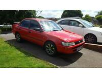 red toyota corolla saloon Lpg gas converted.. 1500.00 ono