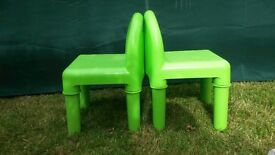 Two Green play chairs-Early Learning Centre
