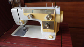 Retro New Home Electric Sewing Machine with Foot Pedal