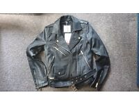 BNWT Pull & Bear Leather Jacket (Small)